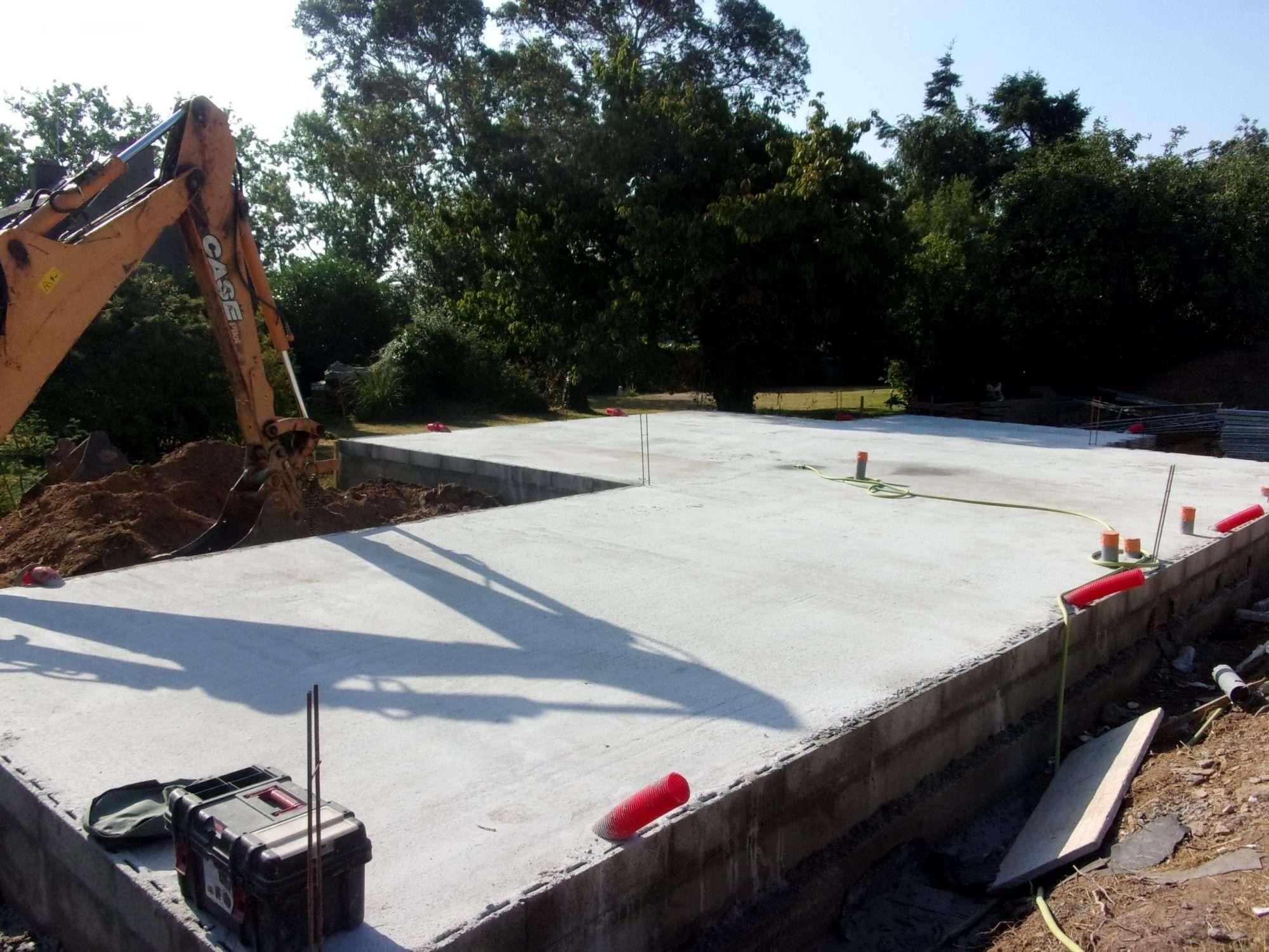Construction maison en cours