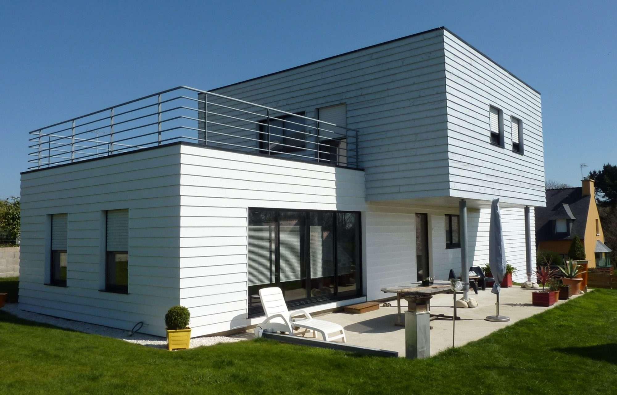 Construction villa contemporaine Lorient