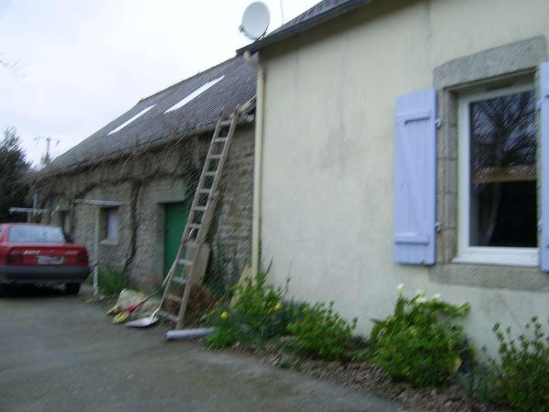 Rénovation d'une longère. Photo avant travaux.