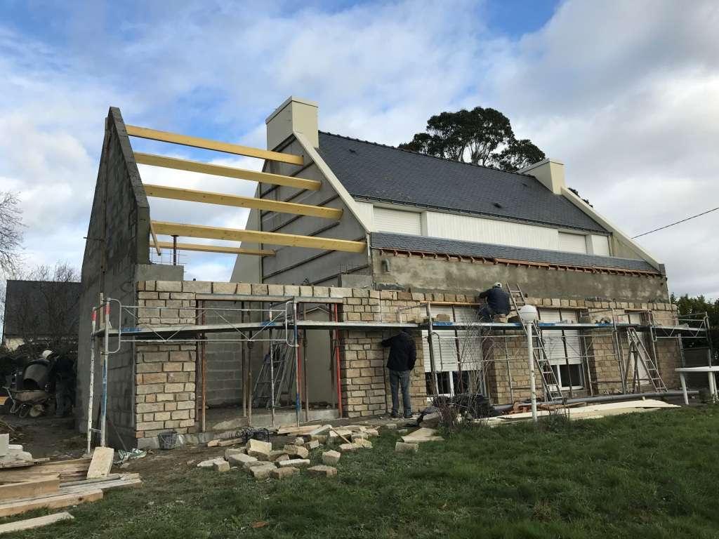 Extension maison morbihan en cours